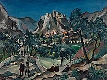 Franz Heckendorf, Oil Painting 'Klis near Salona', Croatia, 192