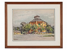 E. Graner (1865-1943), 'Pleasure Palace in the Prater', c. 1940