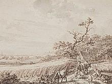 Jacob Cats (1741-1799), Drawing 'Pastoral Landscape', 18th C.