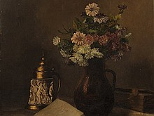 Hugo Charlemont, Oil Painting, 'Still Life with Splendour Vesse
