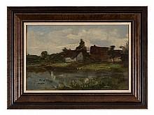 Philipp Helmer (1846-1912), Dachau Marsh Landscape, around 1900