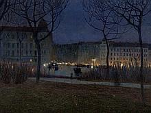 Luigi Bonazza (1877-1965), 'Evening in Vienna', 1905