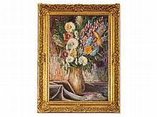 Paul Bach (1886-1919), Oil Painting, Flower Still Life, 1913