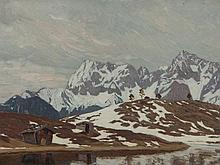 Karl O'Lynch van Town, Oil Painting, Karwendel Landscape, 1930s