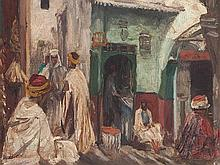 Georg Macco (1863-1933), Mearchants in Oriental Alley, c. 1920