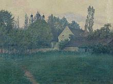 Karl Haustein, 'Upper Bavarian Landscape with House', 1915