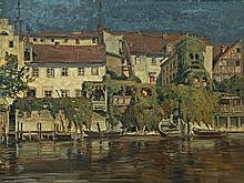 Max Friedrich Koch (1893-1930), Riverside Houses, 1917
