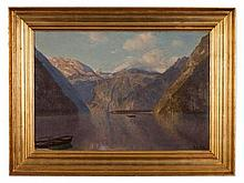 Godfred B. W. Christensen, Oil Painting, Lake Königssee, 1912