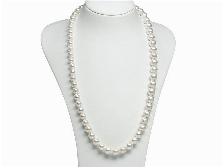 South Sea Pearl Necklace 10.1 - 12.7 mm with Beautiful Luster