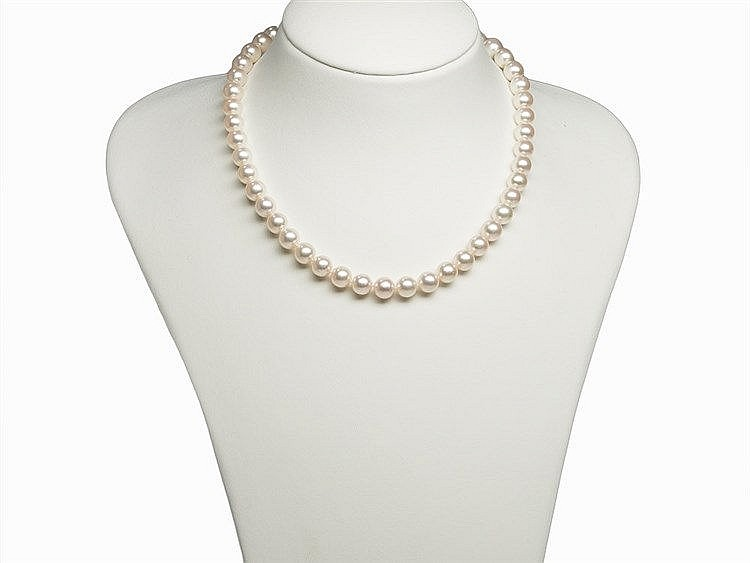 Akoya Pearl Necklace 8.5 - 9 mm with 14K Yellow Gold Clasp