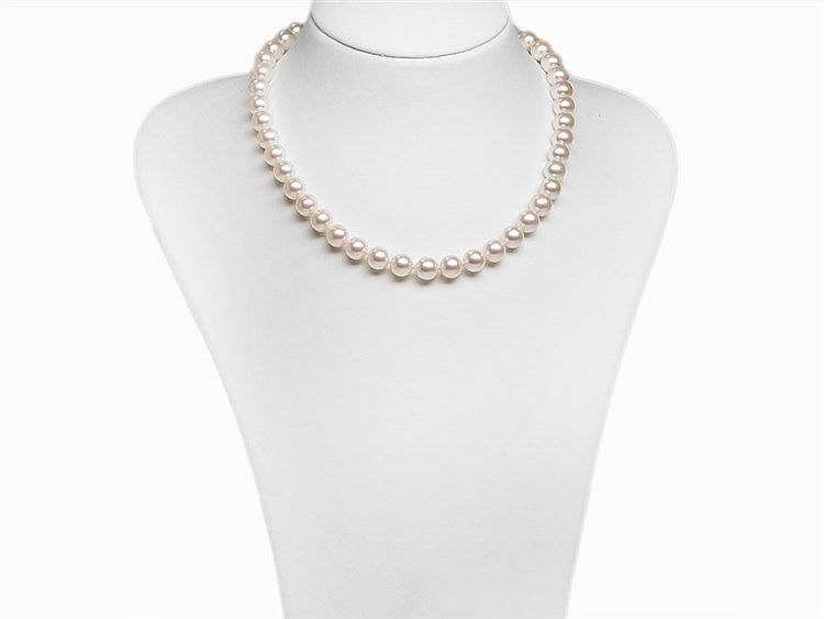Akoya Pearl Necklace 9 - 9.5 mm with 14K Gold Clasp