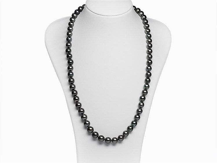 Endless Tahitian Pearl Necklace 10 - 12 mm