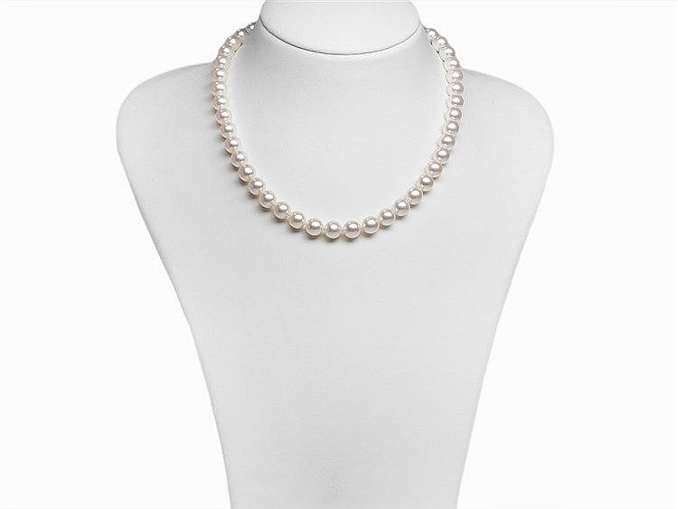Akoya Pearl Necklace 8.5 - 9 mm with 14K Gold Clasp