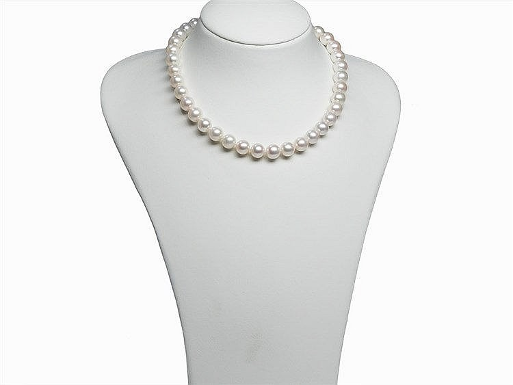 Freshwater Pearl Necklace 10 - 11 mm with 14K Gold Clasp