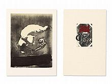 Antoni Tàpies (1923-2012), 2 Prints, Profile & Path, 1982/83