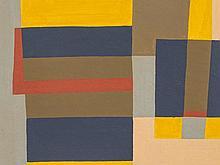 Rudolf Petrik, Gouache 'Composition of Rectangles', c. 1955