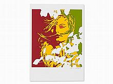 Werner Berges, Serigraph with Abstract Woman Portrait, 1980