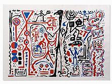 A. R. Penck (b. 1939), Color Serigraph, Composition, 1980s