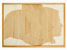 Mario Ceroli (b. 1938), Multiple Wood Sculpture, Profili, 1970