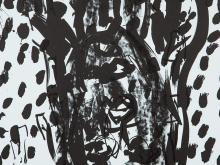 Georg Baselitz, Plate 9 From 'Suite ?45', Lithograph, 1990