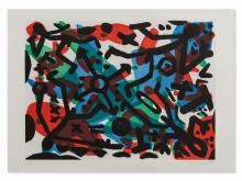 A.R. Penck, From: Berlin Suite, Farbaquatinta, 1990