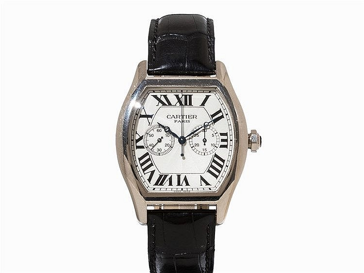 Cartier Tortue Single Pusher Chronograph, Ref. 2762, c. 2000