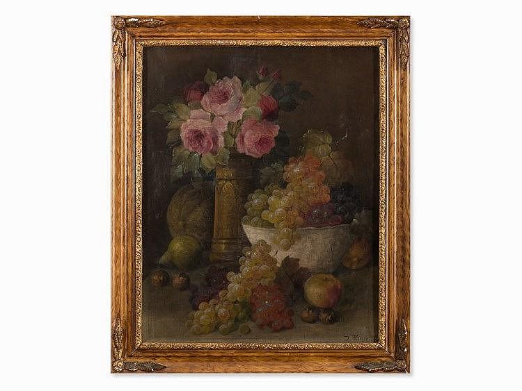 Josef Planer (1883-1962), Flower Still Life, Oil, 1st H.20th C.