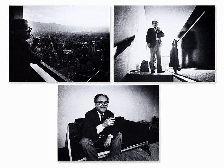 Peter Brüchmann, Max Frisch, 3 Photos, Zürich, 1970s