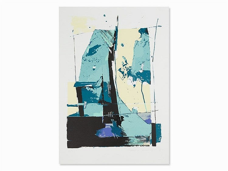 Thomas Kleemann, Abstract Composition, Color Serigraph, 1998