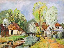 Carl Jörres, Oil Painting, At the Wörpe Near Lilienthal, 1930s