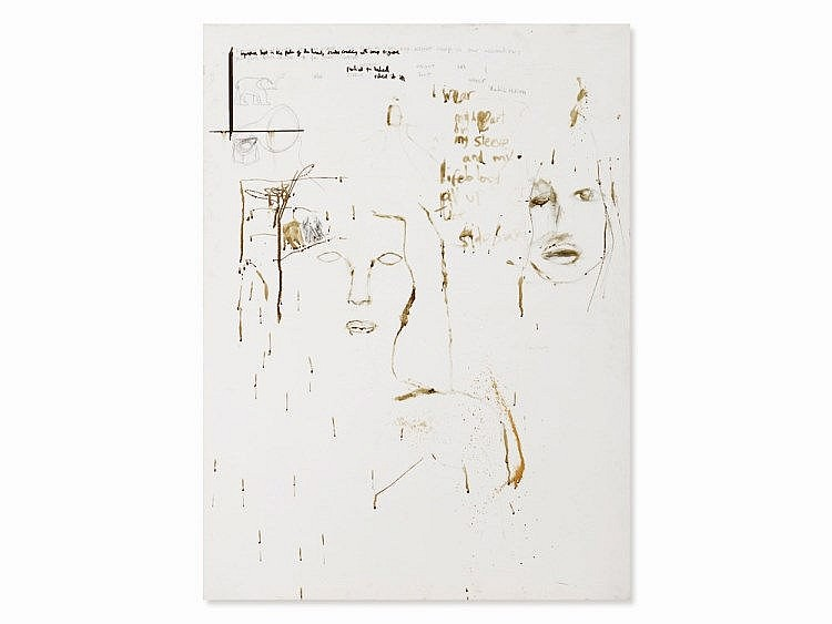 Pete Doherty (b. 1979), Portraits - Blood Painting, c. 2010