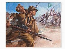 Clemente Tafuri (1903-1971), Carabinieri in Libya, Oil, 1938