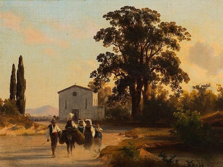 Carl Johann F. Rötteken, Southern Landscape, c. 1860s