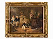 Adolf Jebens (1819-1888), The Dirty Boy, Oil, 1865