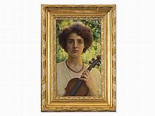 Franz Dvorak (1862-1927), Portrait Herta Offner, 1910