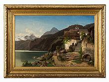 Gottfried J. Pulian (1809-1875), Lake Hallstatt, circa 1870