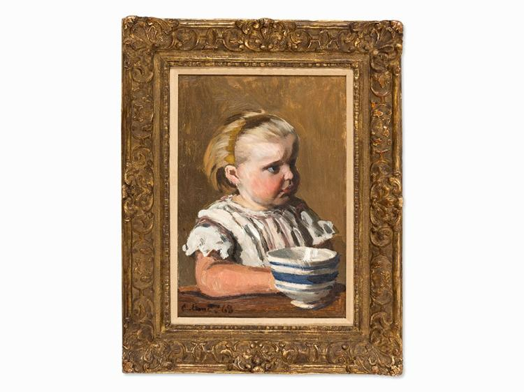 Claude Monet, L'Enfant à la tasse, portrait de Jean Monet, Oil