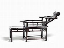 Elegant Zitan Moon-Viewing Chair with Sliding Footrest, Qing