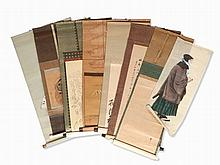 Collection of 38 Scroll Paintings, Qing & Meiji