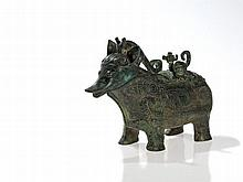 Bronze Vessel 'Guang' in the Form of a Mythical Creature, Qing