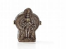 Rare Gau of a Tulku with Avalokiteshvara, Tibet, 1 H 20th C