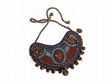 Crescent-Shaped Necklace with Oval Cornelian, Zanskar, 19/20thC
