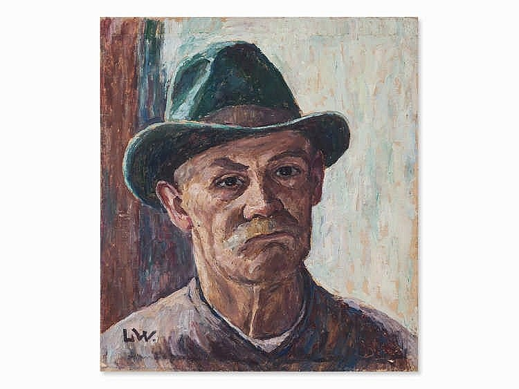 Louise Wagner, Oil Painting, Male Portrait, Presumably 1920s