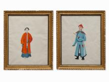 A pair of Chinese School paintings, circa 1780