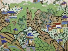 A Chinese cloisonné panel, Qing Dynasty