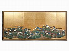 A Japanese paper screen, Taisho/Showa period, 1912 to 1926