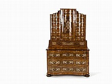 Tabernacle Secretary, Tin Marquetry, Germany, 18th C.