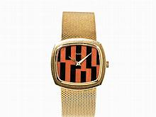 Piaget Coral Onyx Wristwatch, Ref. 9431, Switzerland, c. 1965
