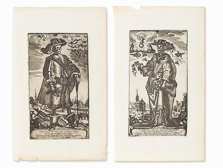 Gerhard Altzenbach, 2 Engravings, Death as Noble Couple, c.1630