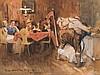 Hans G. Jentzsch (1863-1930), Gouache, A Merry Evening, 1910, Hans Gabriel Jentzsch, Click for value
